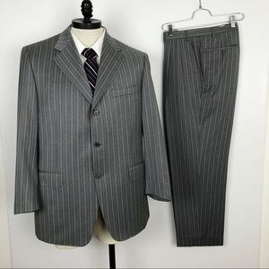 Canali super 120s Suit 100% Wool Gray